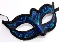 Dark Blue and Turquoise Mask